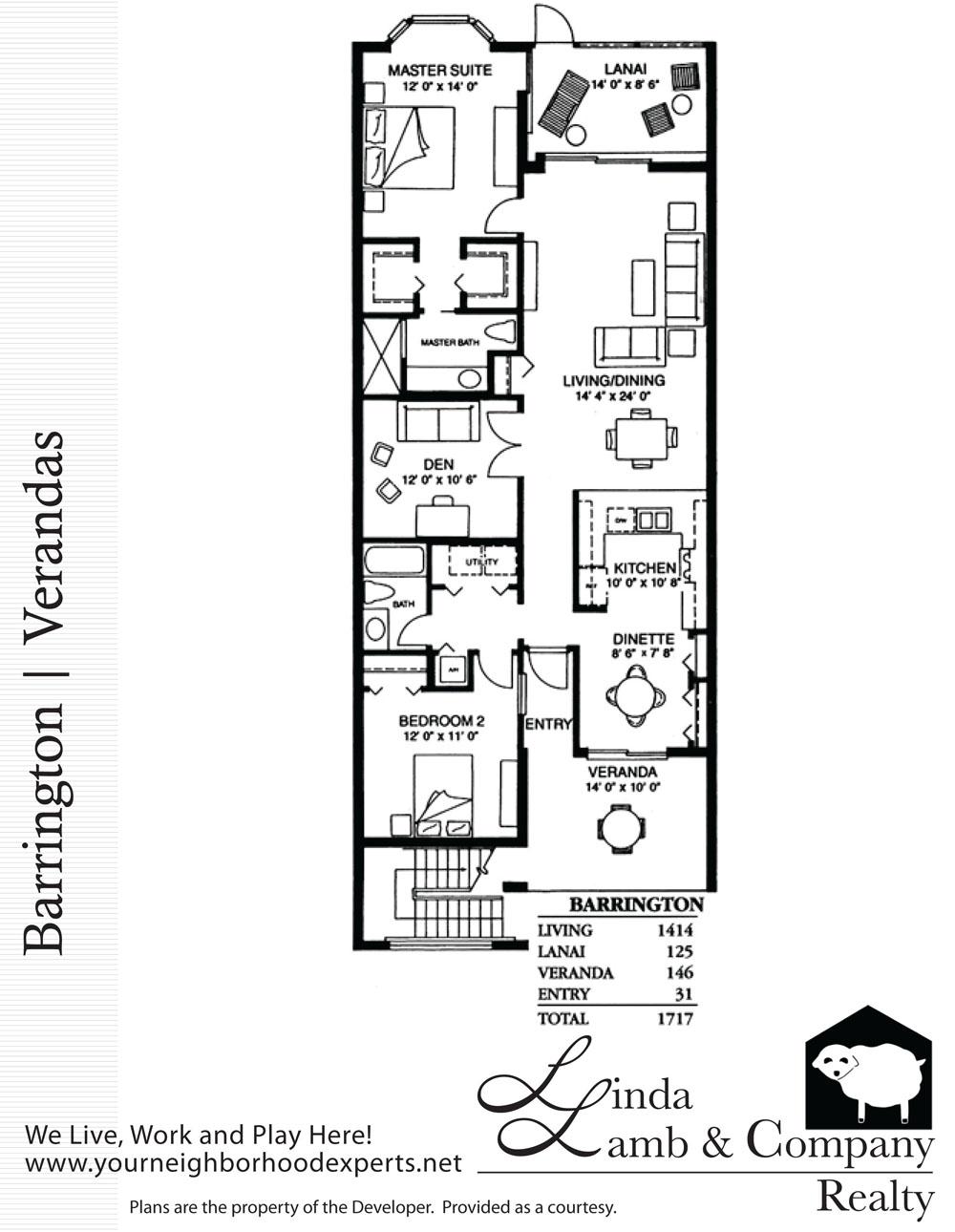 Barrington veranda floor plan heritage palms linda for Barrington floor plan