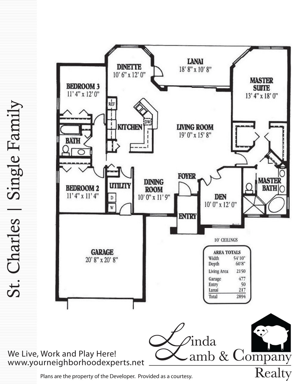 St charles single family floor plan heritage palms for Floor plan companies